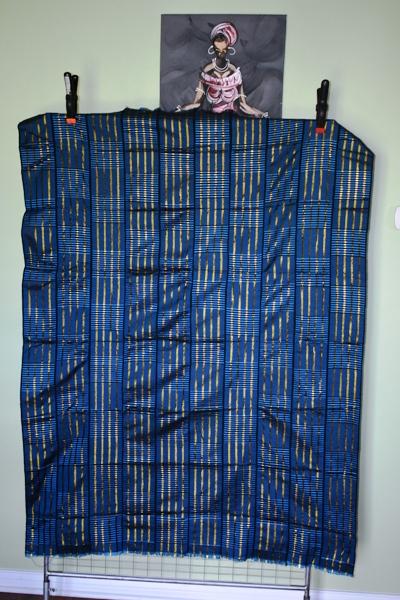 Ewe Kente Cloth-Blue