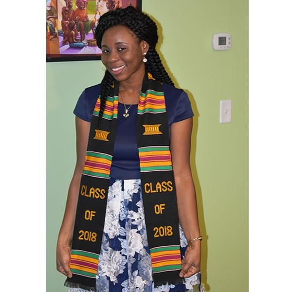 Class of 2019 Black Graduation Kente
