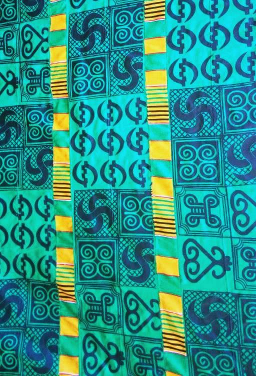 Green Adinkra Cloth New Design
