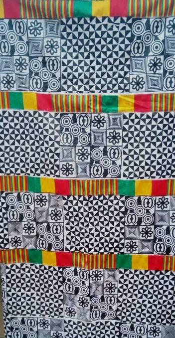 White Adinkra Cloth New Design