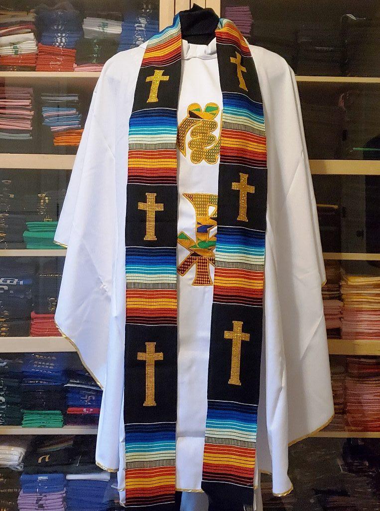 Clergy Black Kente Stoles Multicultural