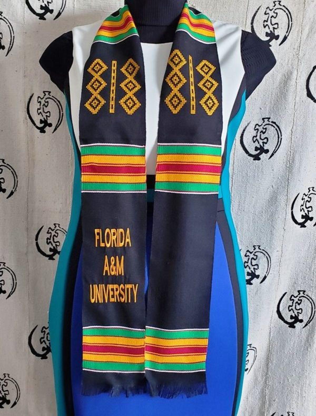 Florida A M University Graduation Kente Stoles African Kente Stoles