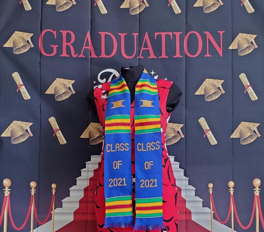 Class of 2021 Graduation Kente Blue