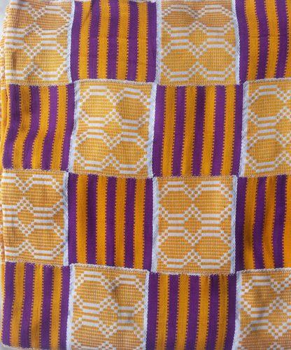 Gold  White Purple Kente