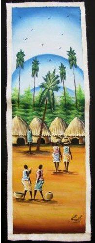 Oil Painting-Village Scene 1