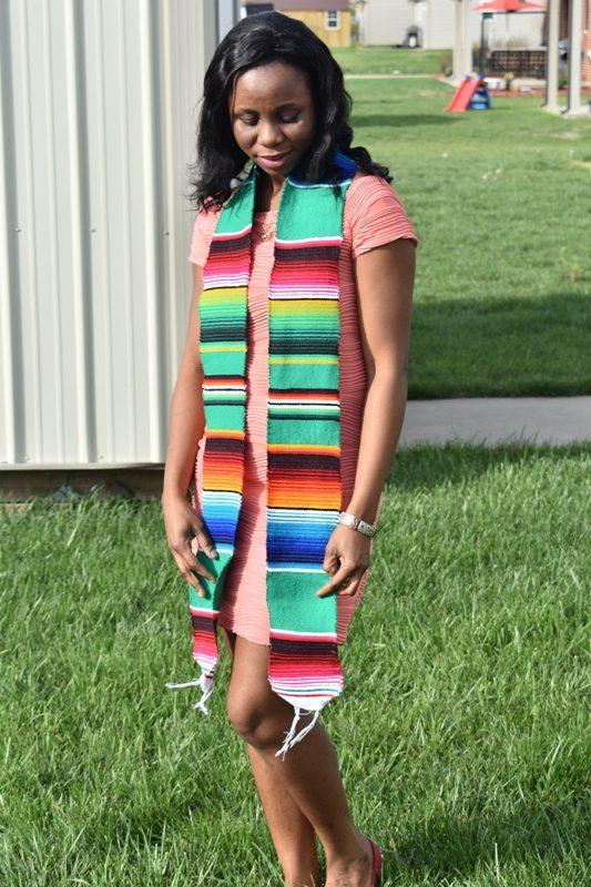 SERAPE Green Graduation Stole