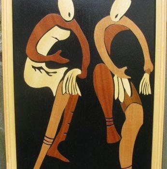 WoodArt-Two Dancers